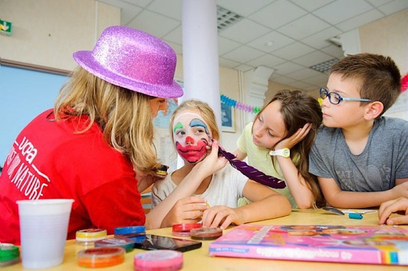 ucpa animation camping estivale enfant maquillage