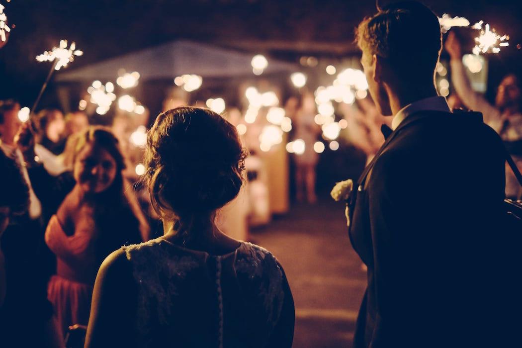 soiree mariage couple mise en lumière