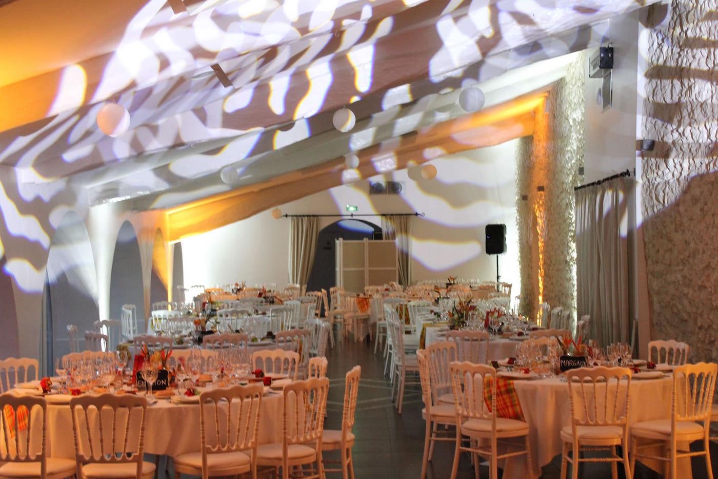 mariage soirée éclairage